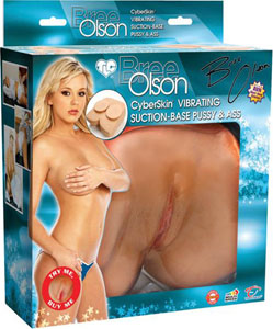 Bree Olson Cyberskin Suction-Base Vibrating Pussy & Ass