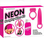 Neon Luv Touch Neon Naughty Nites Kit - Pink