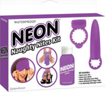 Neon Luv Touch Neon Naughty Nites Kit - Purple