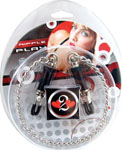 Heart 2 Heart Nipple Clamps Barrel W/Chain - Chrome