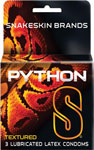 Snakeskin Python Textured Lubricated Condoms - Box Of 3