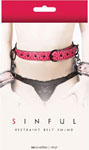 Ns Novelties Restraint Belt S/M - Red