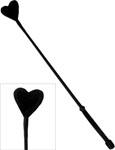 Ruff Doggie Fluffy Heart Crop - Black