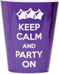 Keep Calm And Party On Plastic Shot Glass