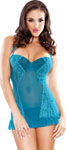 Tease Molded Cup Lace Panel Chemise