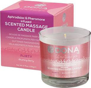 Dona Scented Massage Candle Flirty - 4.75 Oz Blushing Berry
