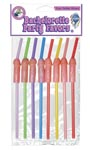 Bachelorette Party Favors Pecker Straws - 8 PC