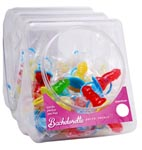 Bachelorette Party Favors Candy Pecker Pacifier - 48 Pc Display