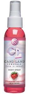 Candiland Sensuals Body Spray - Strawberry Bon Bon - 4 Oz