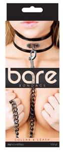 Bare Bondage Collar and Leash