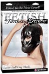 Fetish Fantasy Extreme Latex Ball Gag Mask - Black