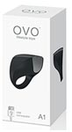 OVO A1 Silicone Rechargeable Ring Showerproof Black