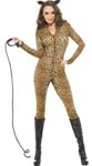 Fever Leopard Print Whiplash Costume - Extra Small