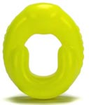 Grip Cockring Fat Padded U-Shaped Cockring - Acid Yellow