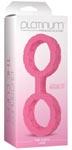 Platinum Premium Silicone The Cuffs - Large - Pink