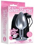 9's the Silver Starter Bejeweled Stainless Steel Plug - Pink