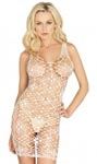 Bordeaux Net Bodycon Dress - White - One Size