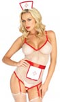 3 Pc. t.l.c. Nurse - One Size - White/ Red