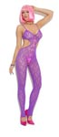 Lace Bodystocking - Neon Purple - One Size