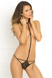 Bedroom Ready Crotchless Teddy - Black - Medium/Large