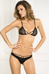 2 Pc Provocative Lace Bra & Panty Set - Small/ Medium