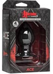 Ace - Silicone Anal Plug - Medium - Black