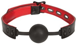 Leather and Silicone Ball Gag
