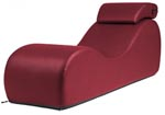 Liberator Black Label Esse Chaise - Faux Leather Claret