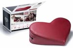 Liberator Decor Heart Wedge - Faux Leather Claret