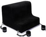 Liberator Obeir Spanking Bench - Microfiber Midnight Black With Plush Cuff Kit
