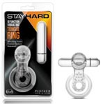 Stay Hard - 10 Function Vibrating Tongue Ring - Clear