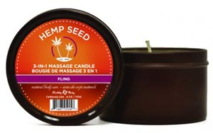 3-in-1 Fling Candle With Hemp - 6 Oz.