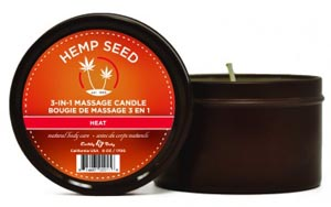 3-in-1 Heat Candle With Hemp - 6 Oz.