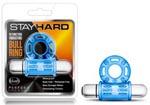 Stay Hard 10 Function Vibrating Bull Ring - Blue