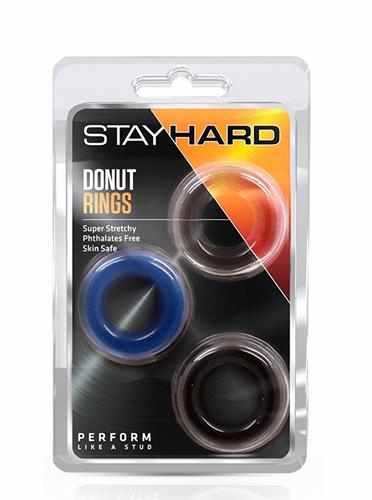 Stay Hard Donut Rings - 3 Pack