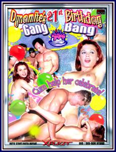 Dynamite's 21st Birthday Gang Bang Porn DVD
