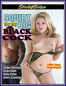 Dvd black squirts cock