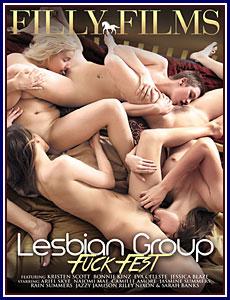 Lesbian Group Fuck Fest Porn DVD