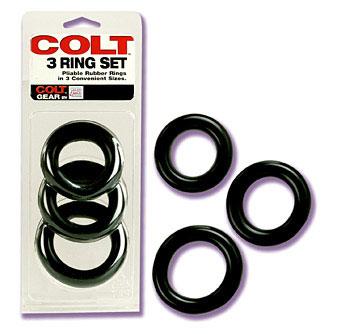 Colt 3 Ring Set - Black