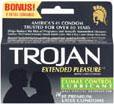 Trojan Extended Pleasure Condoms With Benzocaine - 12 Pack
