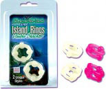 Island Ring Double Stacker - Pink