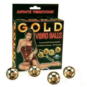 Gold Vibro Balls 4 pc. Set
