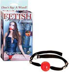 Fetish Fantasy Beginner's Ball Gag - Red