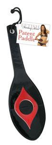 Fetish Fantasy Series Black n' Red Patent Paddle