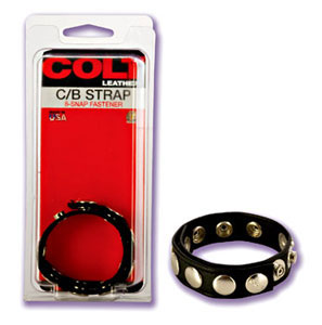 Colt Leather Cock and Ball Strap Adjustable 8 Snap