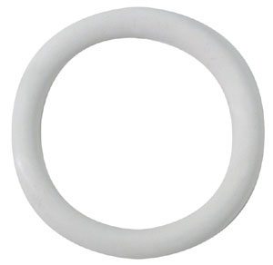Soft White Rubber Cockring 1.25