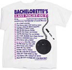 Bachelorette's Last Night Out T-Shirt & Pen