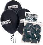 Bachelorette's Black Last Night Out Balloons 10 pk