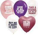 Bachelorette's Colored Ballon Assortment 5 pk