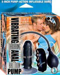 Vibrating Throbbing Anal Balloon Pump - Black